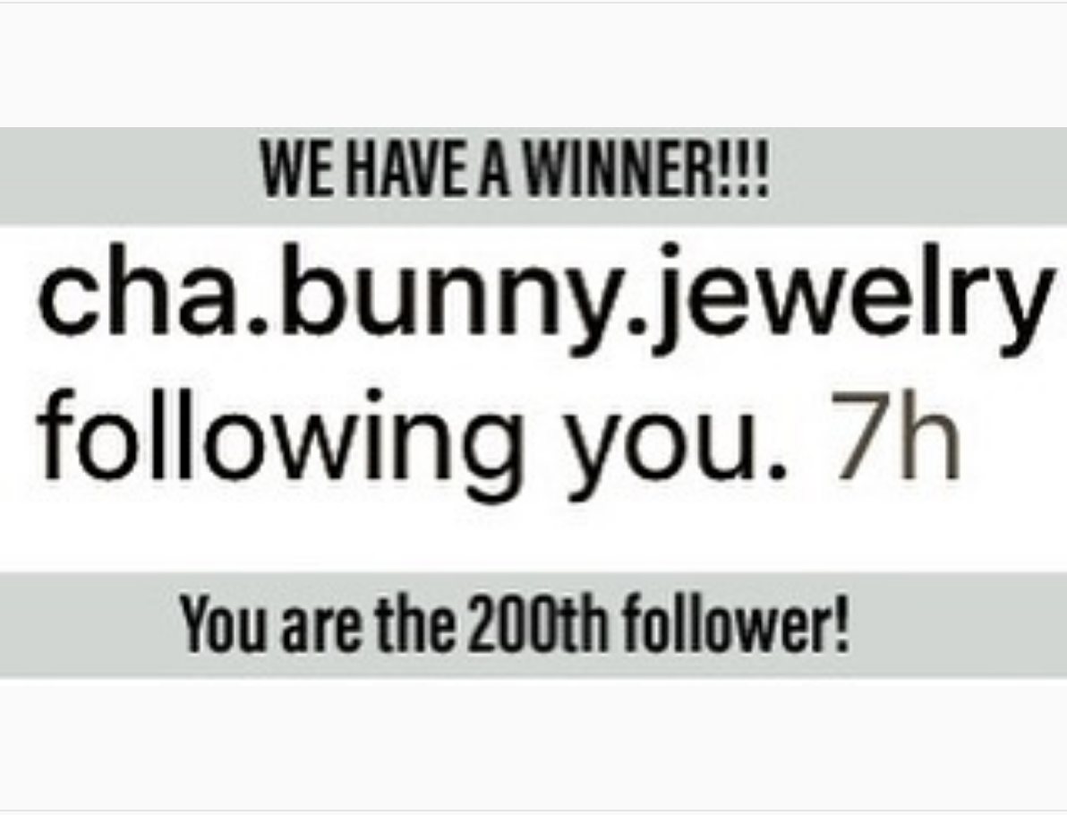 Winner for the 200th Instagram Follower Giveaway