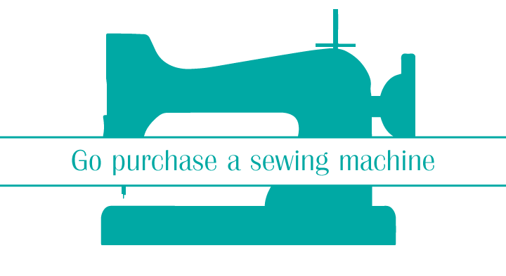 """Stacey Sansom Designs post topic: """"Go purchase a sewing machine"""""""