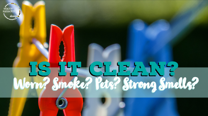 All items must be clean to receive service at Stacey Sansom Designs