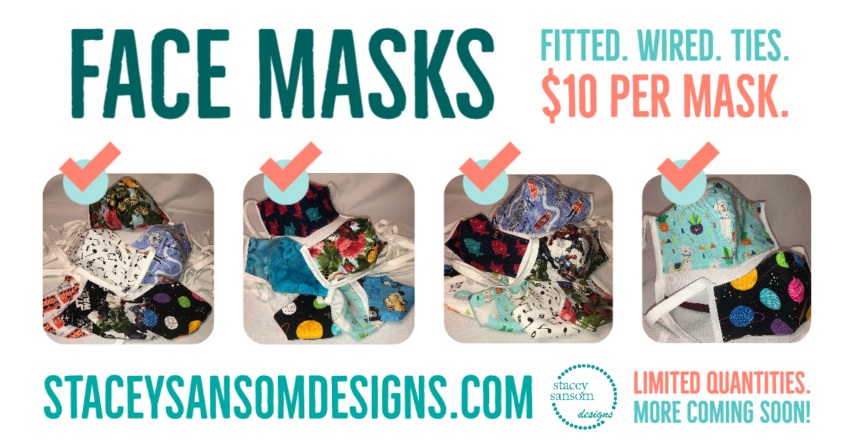 Face Masks | Stacey Sansom Designs